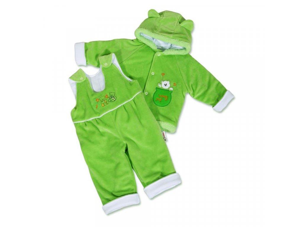 Dojčenská zimná súprava New Baby medvedík zeleno-biela