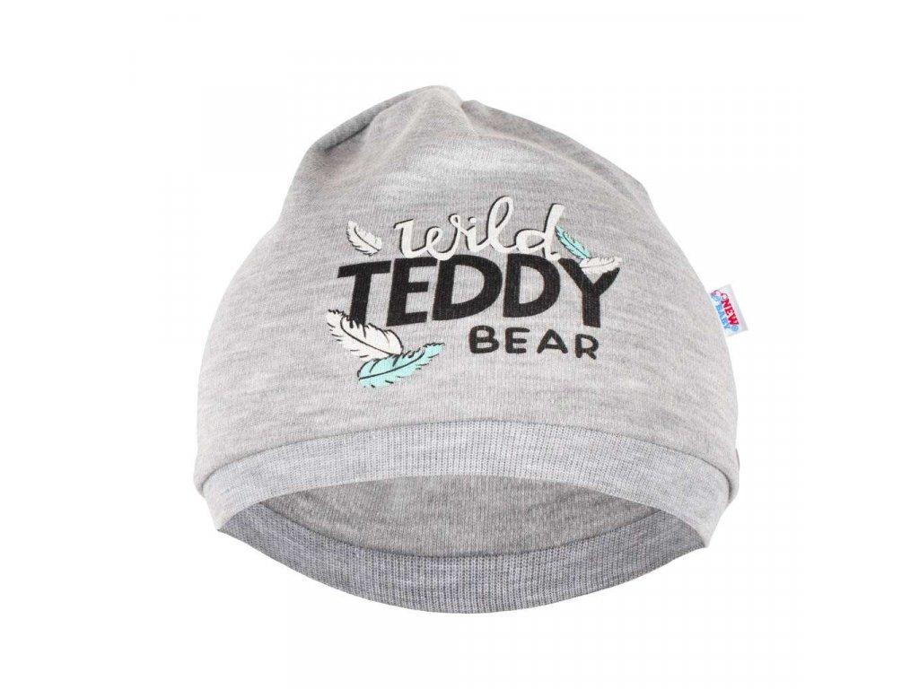 Dojčenská bavlnená čiapočka New Baby Wild Teddy