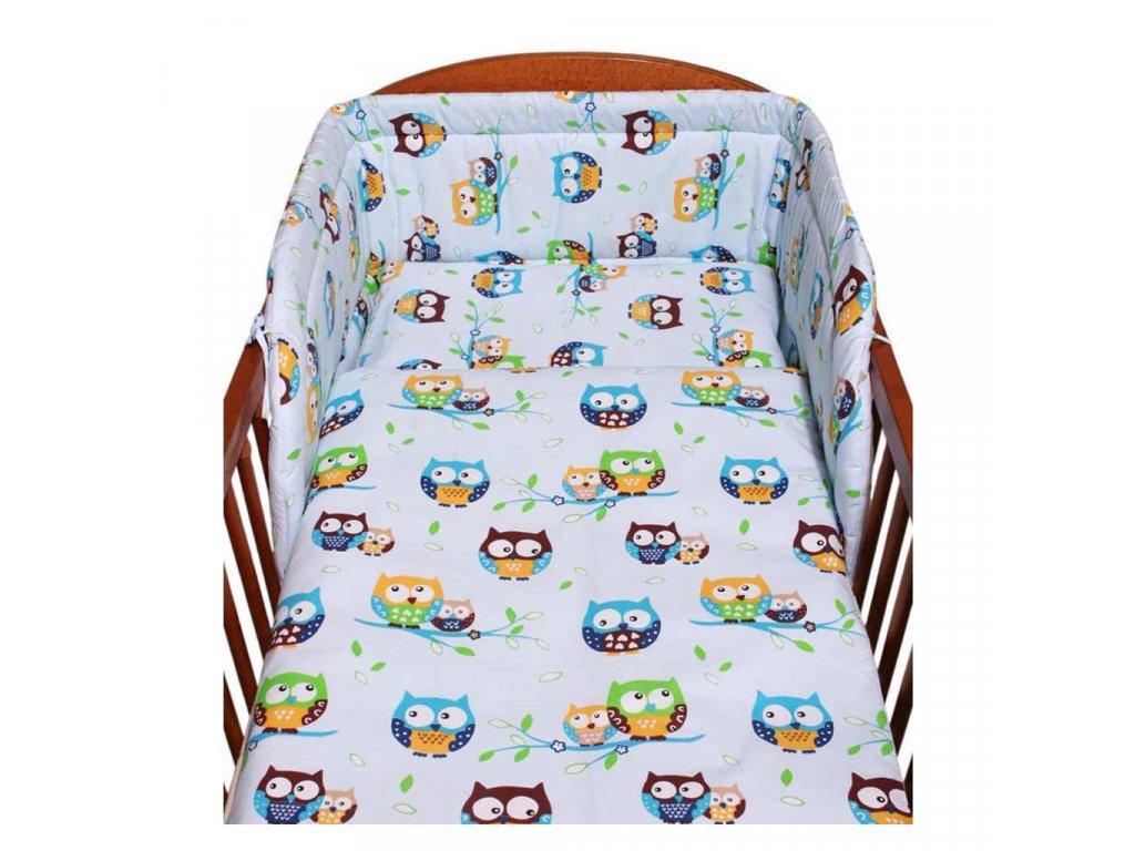 2-dielne posteľné obliečky New Baby 90/120 cm modré so sovou