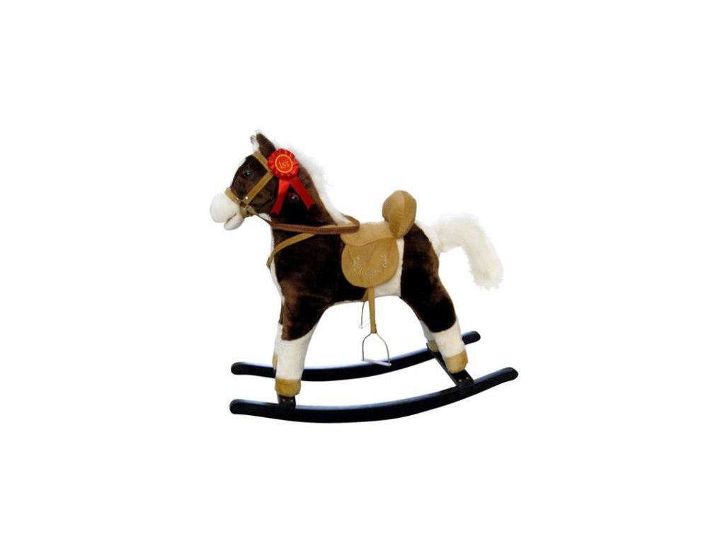 Hojdací koník s melódiou Milly Mally Mustang tmavo hnedý