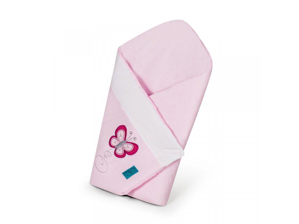 Vyšívaná zavinovačka Belisima Motýlik ružová