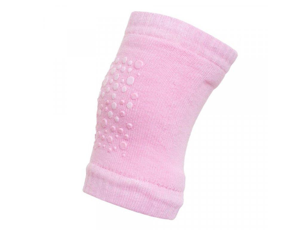 Detské nákolenníky New Baby s ABS pink