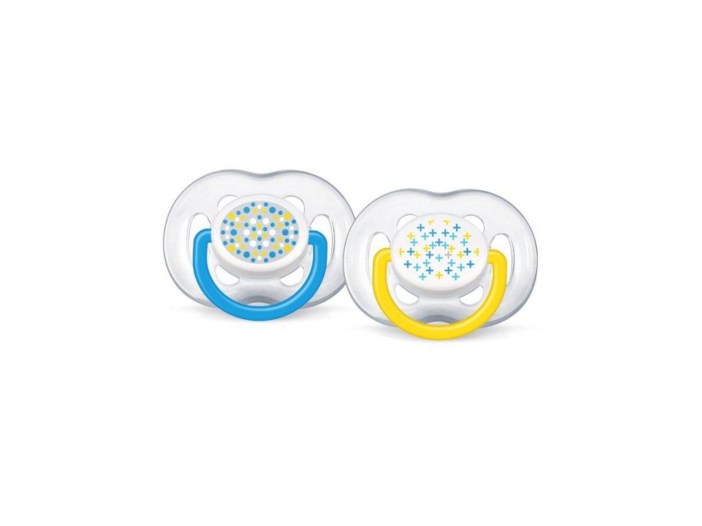 Dojčenský cumlík Avent 6-18 mesiacov modrý - 2 ks