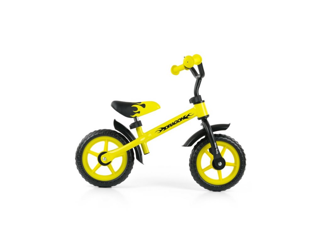 Detské odrážadlo kolo Milly Mally Dragon yellow