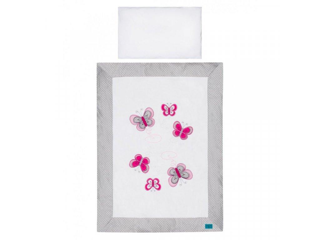 2-dielne posteľné obliečky Belisima Motýlik 90/120 šedé