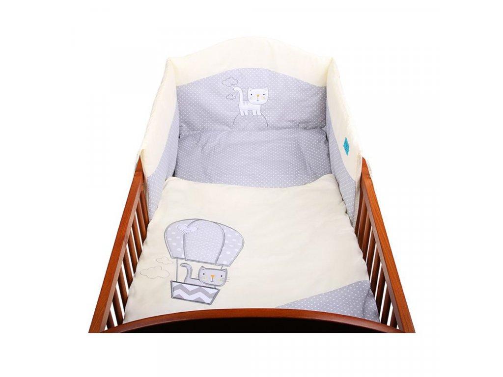 3-dielne posteľné obliečky Belisima Balón 90/120 bežové