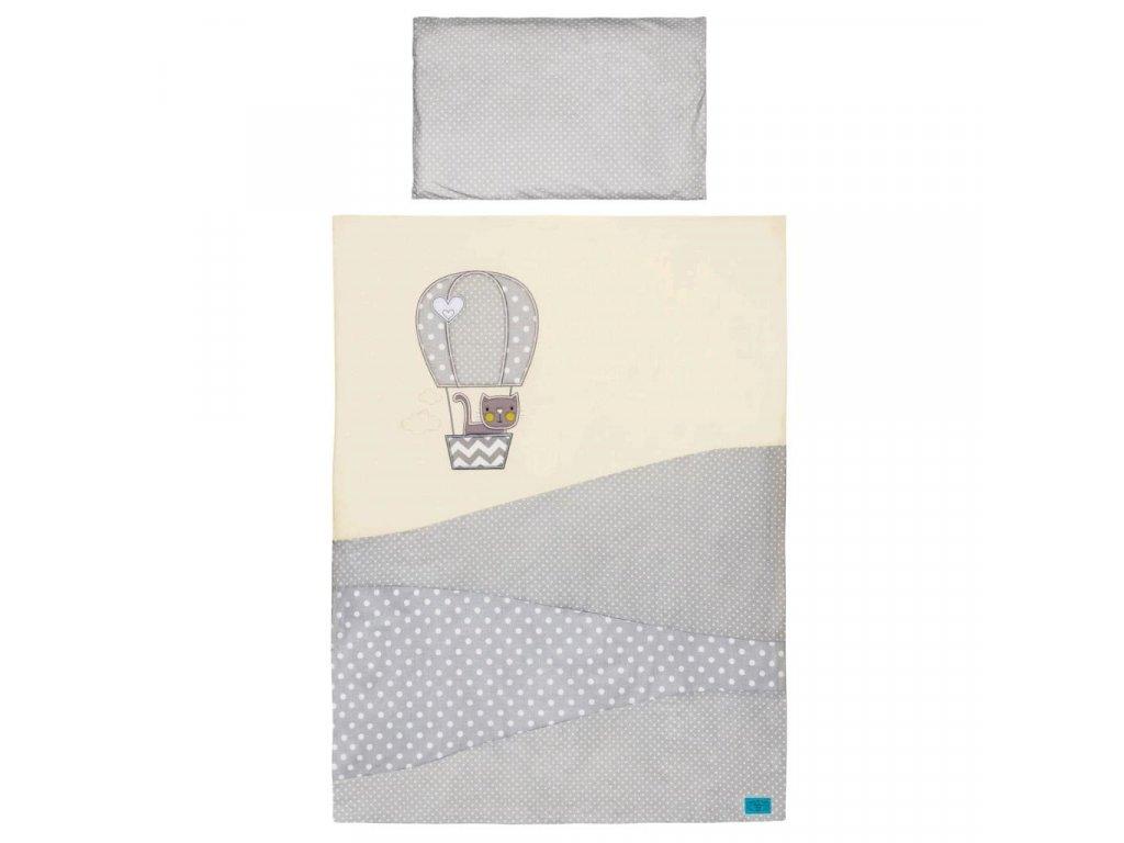 6-dielne posteľné obliečky Belisima Balón 90/120 bežové