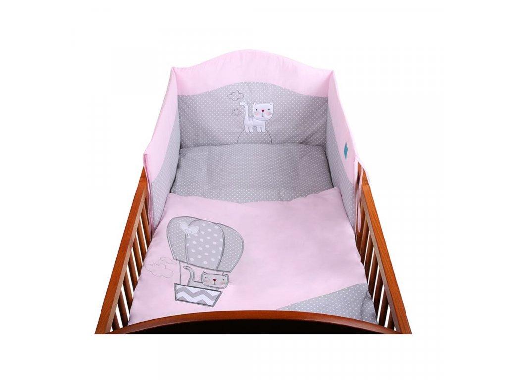6-dielne posteľné obliečky Belisima Balón 100x135 ružové