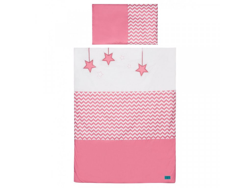 2-dielne posteľné obliečky Belisima Hviezdička 100x135 ružové