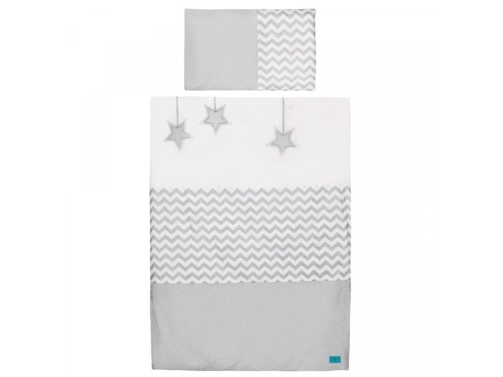 3-dielne posteľné obliečky Belisima Hviezdička 100x135 šedé