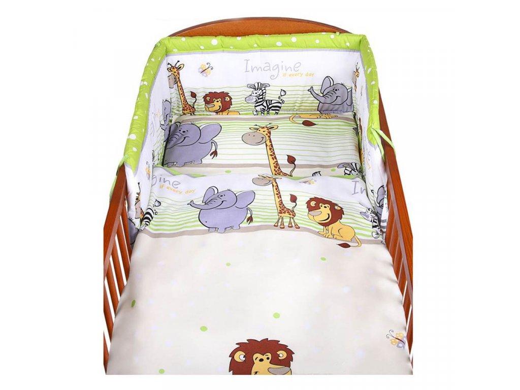 3-dielne posteľné obliečky New Baby 90/120 cm zelené safari
