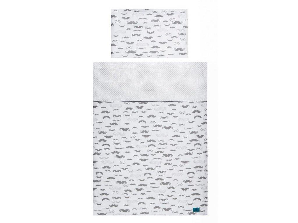 6-dielne posteľné obliečky Belisima Little Man 90/120 sivé
