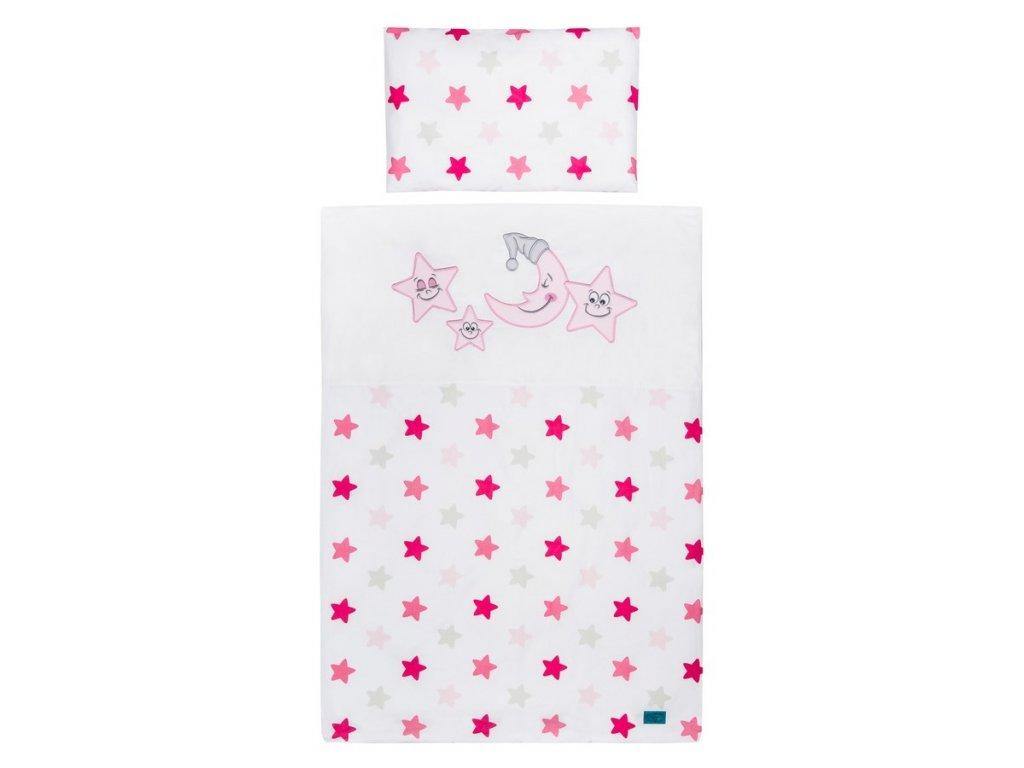 5-dielne posteľné obliečky Belisima Veselé Hviezdičky 90/120 ružové