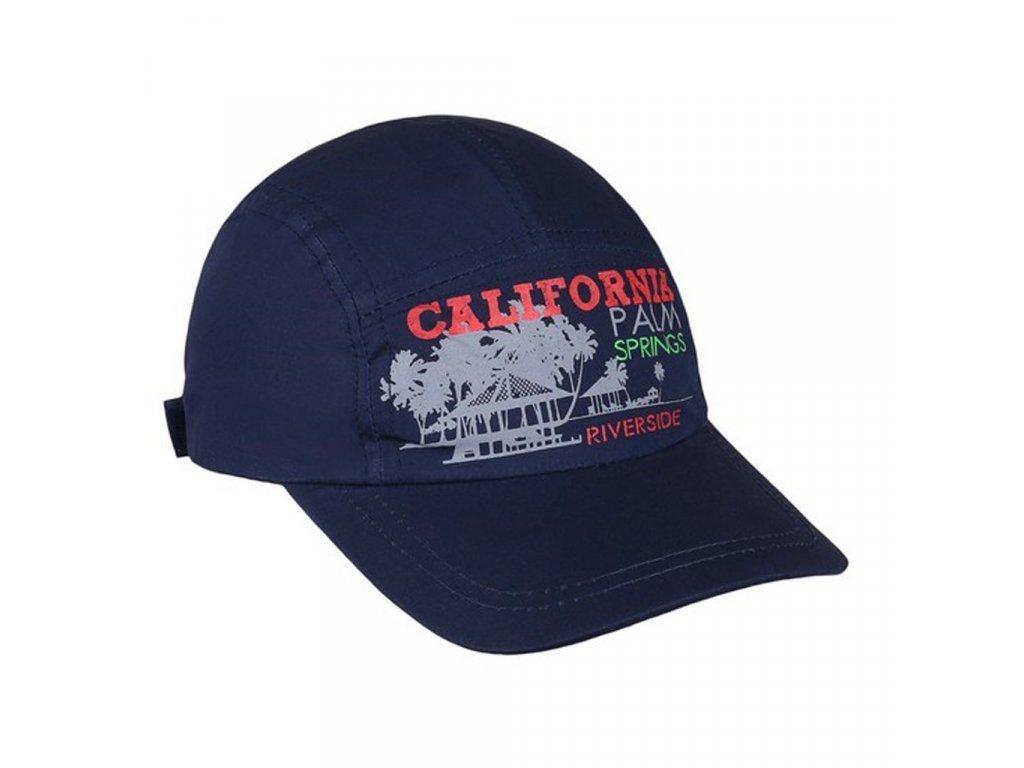 Letná detská šiltovka New Baby California tmavo modrá