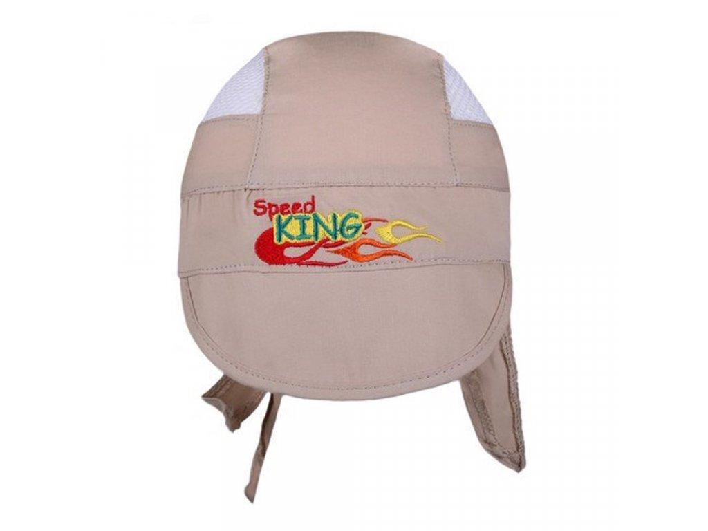 Letná detská čiapočka-šatka New Baby Speed King bežová
