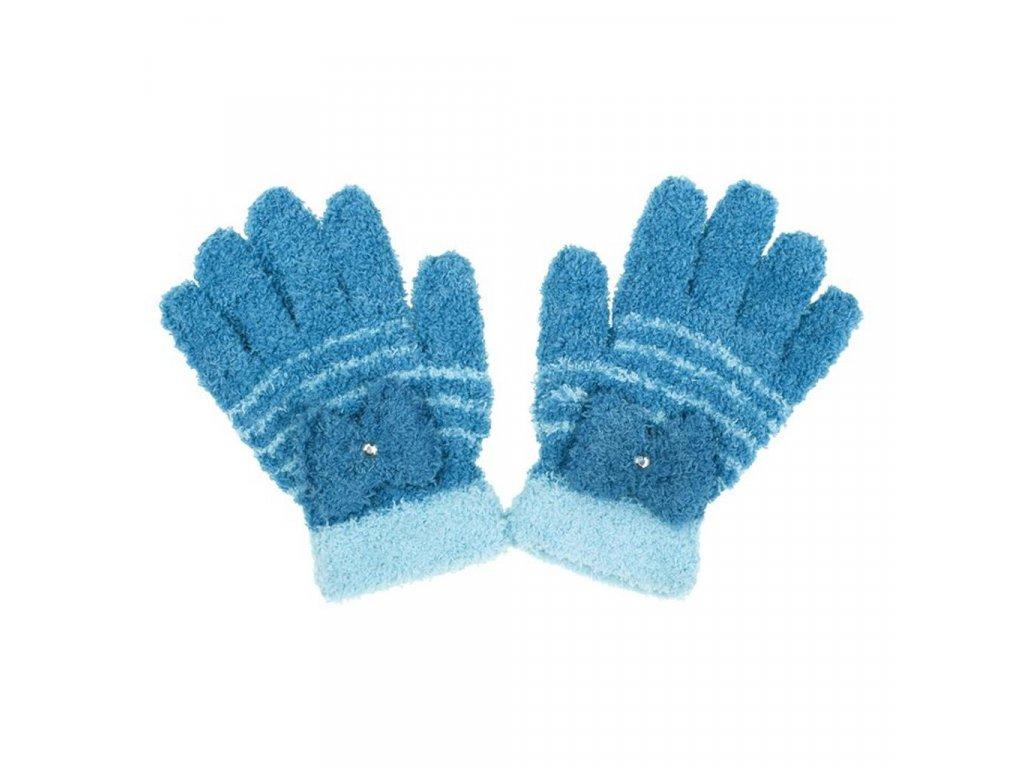 Detské zimné froté rukavičky New Baby svetlo modré