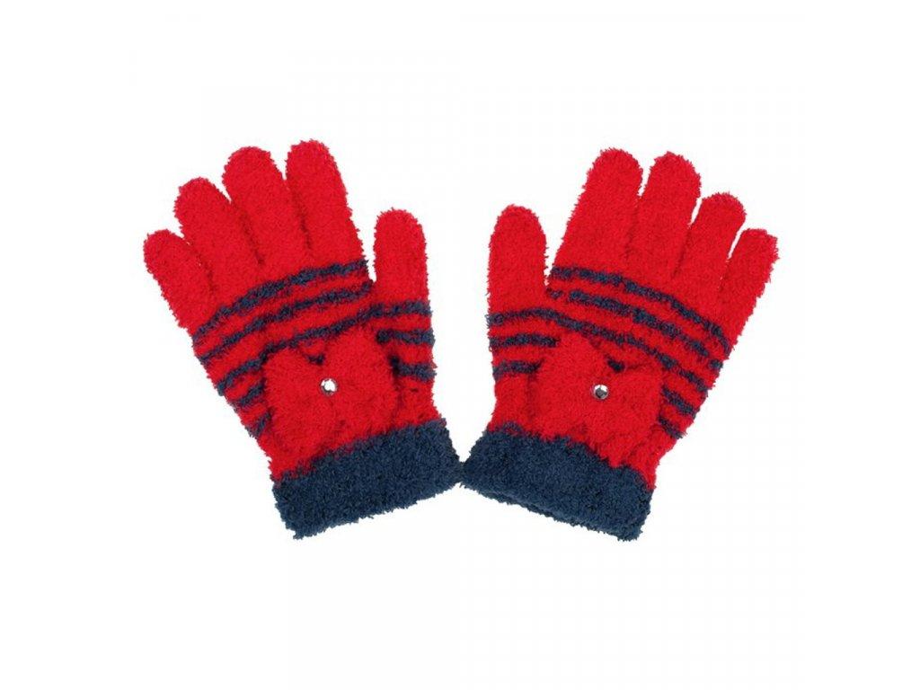 Detské zimné froté rukavičky New Baby červené
