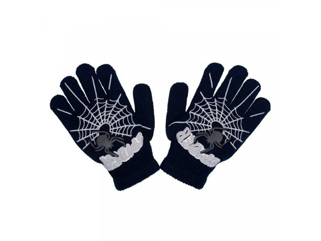Detské zimné rukavičky New Baby s pavúkom čierné