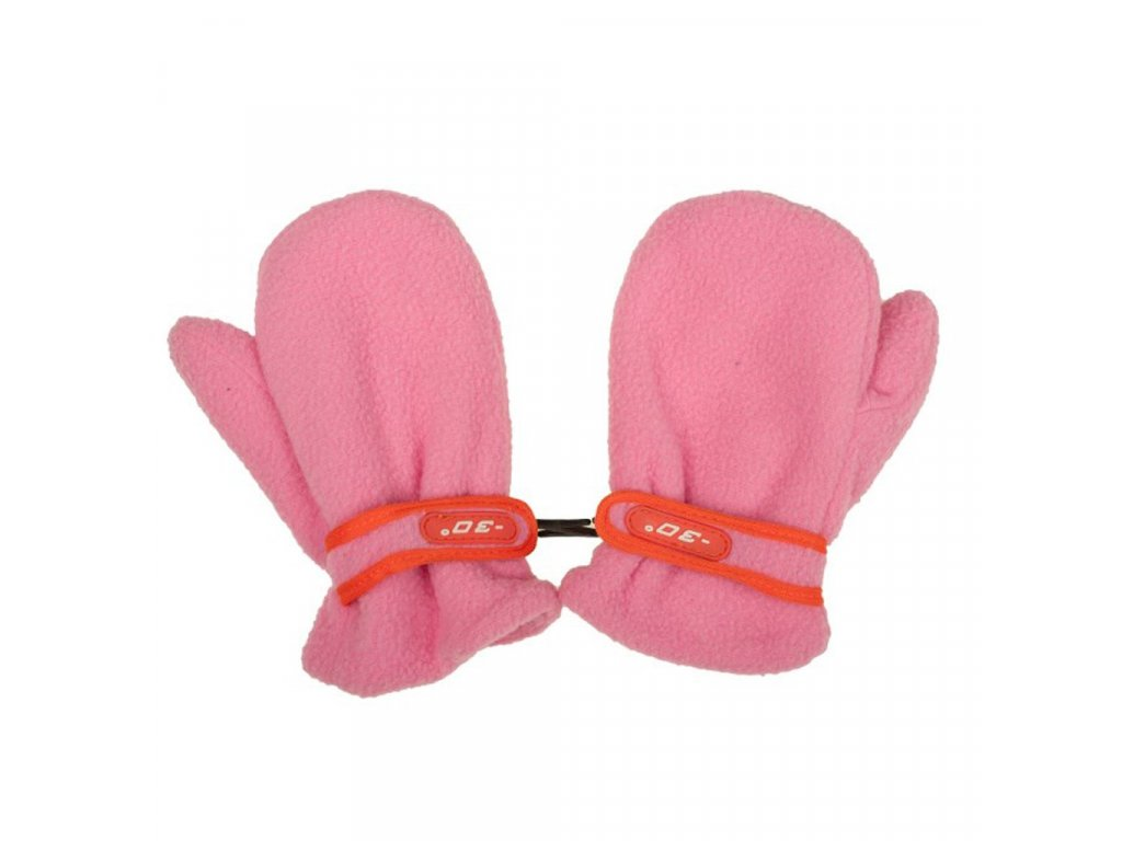 Detské zimné rukavičky New Baby fleecové ružové