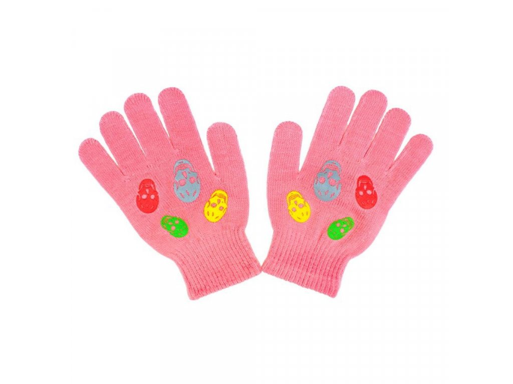 Detské zimné rukavičky New Baby Girl ružové