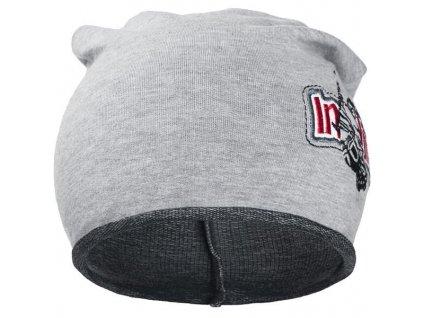 Jesenná detská čiapočka New Baby In-line tmavo sivá