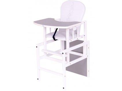 Borovicová stolička Drewex Antonín Hviezdičky sivá