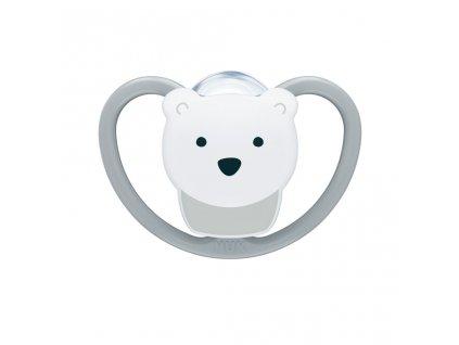 Cumlík Space NUK 0-6m ľadový medveď BOX