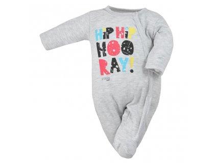 Dojčenský overal Koala Hip-Hip sivý