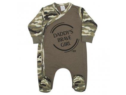 Dojčenský overal New Baby Army girl