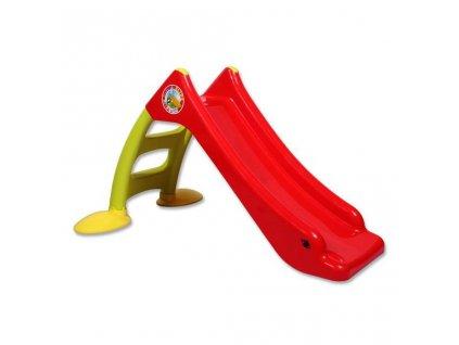 Detská šmýkačka - červeno-zelená