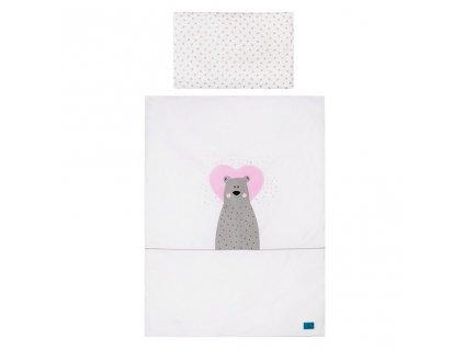 6-dielne posteľné obliečky Belisima Bear in love 90/120 ružové