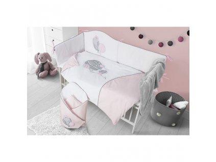 6-dielne posteľné obliečky Belisima Ballons 100/135 ružové