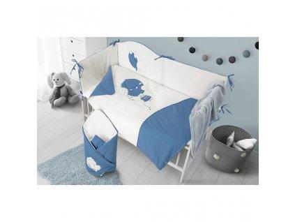 6-dielne posteľné obliečky Belisima Ballons 100/135 modré