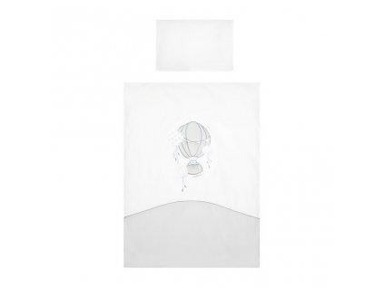 6-dielne posteľné obliečky Belisima Ballons 90/120 sivé