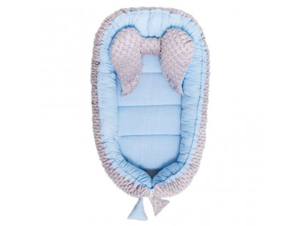 Hniezdočko pre bábätko Minky Sweet Baby Belisima modré