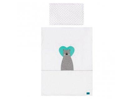 5-dielne posteľné obliečky Belisima Bear in love 90/120 tyrkysové