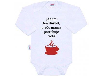 Body s potlačou New Baby ...veľa kávy...