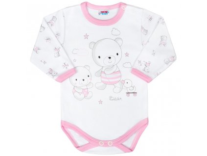 Dojčenské body New Baby Bears ružové