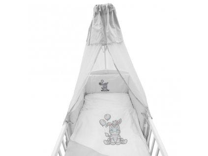 6-dielne posteľné obliečky New Baby Zebra exclusive 90/120 bielo-sivé