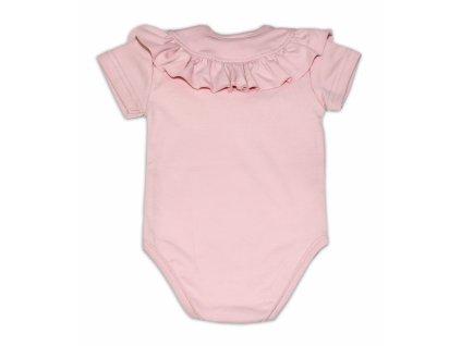 112158 191423 g baby bavlnene body s volanikom kratky rukav pudrove ruzove