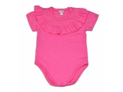 112152 191405 g baby bavlnene body s volanikom kratky rukav tm ruzove