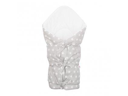 Klasická šnurovacia zavinovačka New Baby Hviezdičky sivo-biela