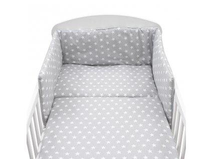 3-dielne posteľné obliečky New Baby 90/120 cm Hviezdičky sivé