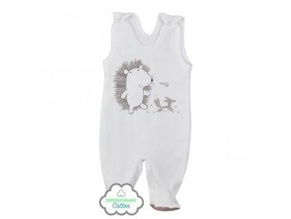 Dojčenské dupačky z organickej bavlny Koala Lesný Priateľ béžové