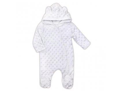 Zimný dojčenský overal z Minky Nicol Bubbles biely