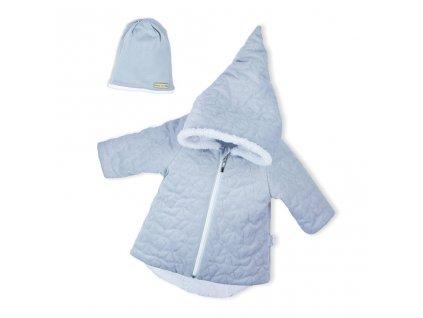 Zimný dojčenský kabátik s čiapočkou Nicol Kids Winter sivý
