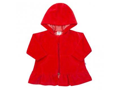 Semišková mikinka s kapucňou New Baby Baby červená