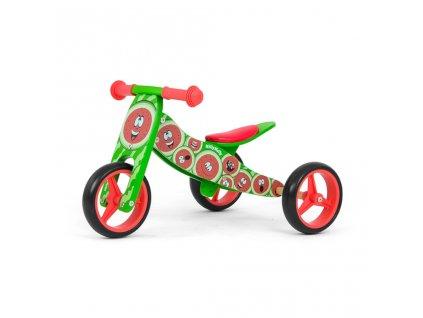 Detské multifunkčné odrážadlo bicykel Milly Mally JAKE watermelon