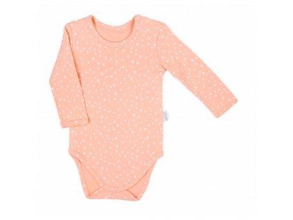Dojčenské body s dlhým rukávom  Nicol Rainbow ružové