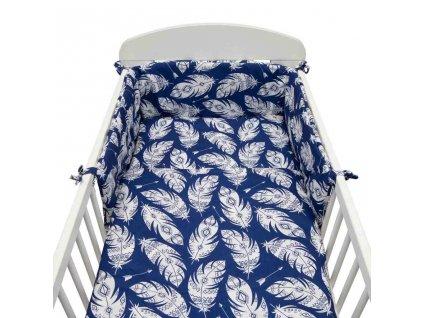 3-dielne posteľné obliečky New Baby 90/120 cm Pierka modré